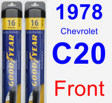 Front Wiper Blade Pack for 1978 Chevrolet C20 - Assurance