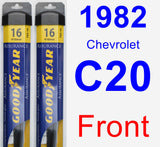 Front Wiper Blade Pack for 1982 Chevrolet C20 - Assurance
