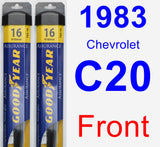 Front Wiper Blade Pack for 1983 Chevrolet C20 - Assurance