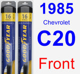 Front Wiper Blade Pack for 1985 Chevrolet C20 - Assurance