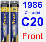 Front Wiper Blade Pack for 1986 Chevrolet C20 - Assurance
