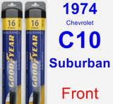 Front Wiper Blade Pack for 1974 Chevrolet C10 Suburban - Assurance