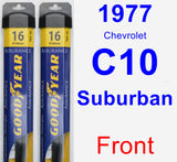 Front Wiper Blade Pack for 1977 Chevrolet C10 Suburban - Assurance