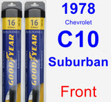 Front Wiper Blade Pack for 1978 Chevrolet C10 Suburban - Assurance