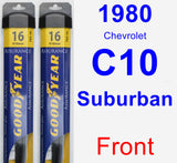 Front Wiper Blade Pack for 1980 Chevrolet C10 Suburban - Assurance