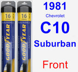 Front Wiper Blade Pack for 1981 Chevrolet C10 Suburban - Assurance