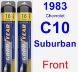 Front Wiper Blade Pack for 1983 Chevrolet C10 Suburban - Assurance