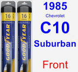 Front Wiper Blade Pack for 1985 Chevrolet C10 Suburban - Assurance