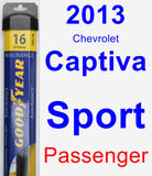 Passenger Wiper Blade for 2013 Chevrolet Captiva Sport - Assurance