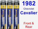 Front & Rear Wiper Blade Pack for 1982 Chevrolet Cavalier - Assurance