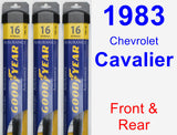 Front & Rear Wiper Blade Pack for 1983 Chevrolet Cavalier - Assurance