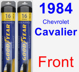 Front Wiper Blade Pack for 1984 Chevrolet Cavalier - Assurance