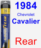 Rear Wiper Blade for 1984 Chevrolet Cavalier - Assurance