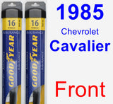 Front Wiper Blade Pack for 1985 Chevrolet Cavalier - Assurance