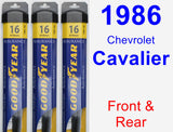 Front & Rear Wiper Blade Pack for 1986 Chevrolet Cavalier - Assurance
