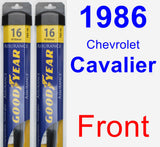 Front Wiper Blade Pack for 1986 Chevrolet Cavalier - Assurance
