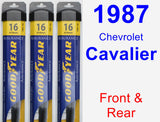 Front & Rear Wiper Blade Pack for 1987 Chevrolet Cavalier - Assurance