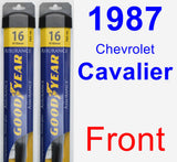 Front Wiper Blade Pack for 1987 Chevrolet Cavalier - Assurance