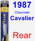 Rear Wiper Blade for 1987 Chevrolet Cavalier - Assurance