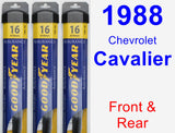 Front & Rear Wiper Blade Pack for 1988 Chevrolet Cavalier - Assurance