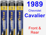 Front & Rear Wiper Blade Pack for 1989 Chevrolet Cavalier - Assurance