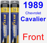 Front Wiper Blade Pack for 1989 Chevrolet Cavalier - Assurance