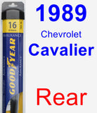 Rear Wiper Blade for 1989 Chevrolet Cavalier - Assurance
