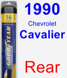 Rear Wiper Blade for 1990 Chevrolet Cavalier - Assurance
