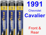 Front & Rear Wiper Blade Pack for 1991 Chevrolet Cavalier - Assurance