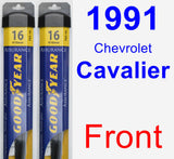 Front Wiper Blade Pack for 1991 Chevrolet Cavalier - Assurance