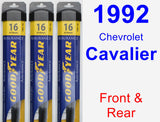Front & Rear Wiper Blade Pack for 1992 Chevrolet Cavalier - Assurance