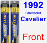 Front Wiper Blade Pack for 1992 Chevrolet Cavalier - Assurance