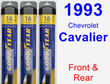 Front & Rear Wiper Blade Pack for 1993 Chevrolet Cavalier - Assurance