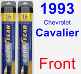 Front Wiper Blade Pack for 1993 Chevrolet Cavalier - Assurance