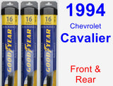 Front & Rear Wiper Blade Pack for 1994 Chevrolet Cavalier - Assurance