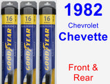 Front & Rear Wiper Blade Pack for 1982 Chevrolet Chevette - Assurance