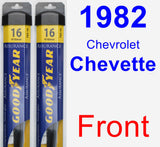 Front Wiper Blade Pack for 1982 Chevrolet Chevette - Assurance