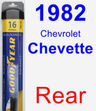 Rear Wiper Blade for 1982 Chevrolet Chevette - Assurance