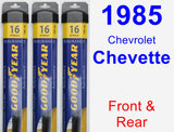 Front & Rear Wiper Blade Pack for 1985 Chevrolet Chevette - Assurance