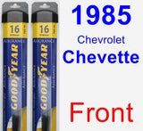 Front Wiper Blade Pack for 1985 Chevrolet Chevette - Assurance