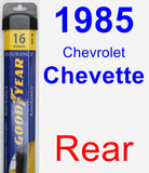 Rear Wiper Blade for 1985 Chevrolet Chevette - Assurance