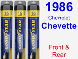 Front & Rear Wiper Blade Pack for 1986 Chevrolet Chevette - Assurance