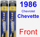 Front Wiper Blade Pack for 1986 Chevrolet Chevette - Assurance