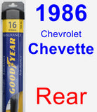 Rear Wiper Blade for 1986 Chevrolet Chevette - Assurance