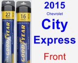Front Wiper Blade Pack for 2015 Chevrolet City Express - Assurance