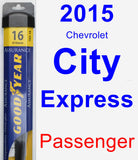 Passenger Wiper Blade for 2015 Chevrolet City Express - Assurance