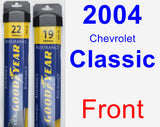 Front Wiper Blade Pack for 2004 Chevrolet Classic - Assurance