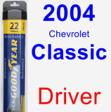Driver Wiper Blade for 2004 Chevrolet Classic - Assurance