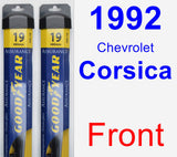 Front Wiper Blade Pack for 1992 Chevrolet Corsica - Assurance