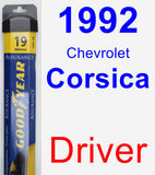 Driver Wiper Blade for 1992 Chevrolet Corsica - Assurance